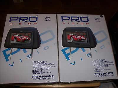 """TWO (2) PRO VISION 8.5"""" HD Digital LCD Screen Headrest Monitors. (UNTESTED)"""