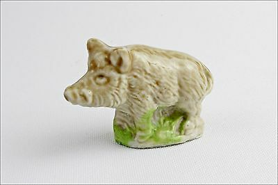 Vintage Wade Whimsies Wild Boar - Porcelain Animal Figurine - Small Collectable