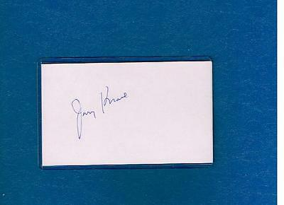 Jerry Krause Signed Index Card Autograph Auto Chicago Bulls Future HOF