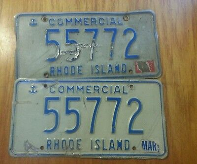 Rhode Island Used Commercial License Plate 55772 (2) plates