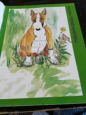 BULL TERRIER QUARTERLY LOT OF 4 MAGAZINES 1990'S. Used Signed