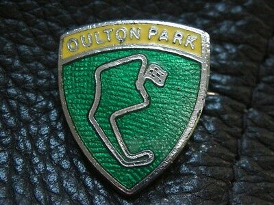 Oulton Park Motorcycle Racing Circuit Motorbike Enamel Bike Pin Badge
