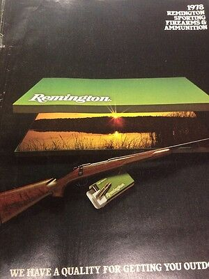Vintage Hunting Shooting Advertising  Remington  Sporting Firearms & Ammo 1978
