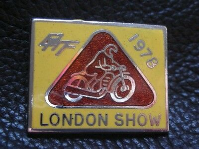 1978 Bmf Motorcycle London Show Motorbike Enamel Bike Pin Badge