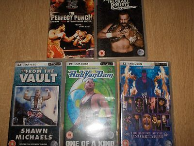 Five Psp Video's Wrestling Theme, Undertaker, Shawn Michaels Etc