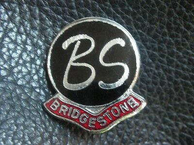 Bridgestone Motorcycle Tyres Enamel Motorbike Motorsport Jacket Badge
