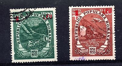 Rumania (1065) 1952 Currencey revaluation, 2 stamps from the set used Sg2216-7