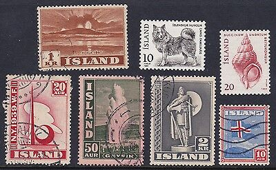 Iceland Stamps. Island Stamps. 1939 -1947 Selection Mint Hinged And Used Stamps.