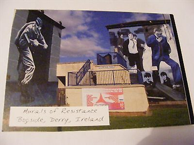 DERRY REVOLUTIONARY POSTCARD Murals of Resistance Bogside Irish Republican Doire