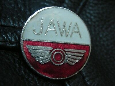 Old Jawa Motorcycle Emblem Enamel Motorbike Bike Pin Badge