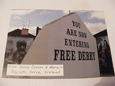 DERRY REVOLUTIONARY POSTCARD Free Derry & Murals Bogside Irish Republican Eire