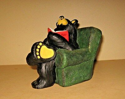 "BearFoots "" Bob"" In Armchair Reading Bear Big Sky Carvers Jeff Fleming"