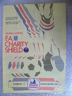 1985 FA Charity Shield  EVERTON v MANCHESTER UNITED(Official Souvenir Programme)