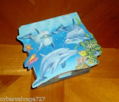 Decorative Dolphin Note Pad Box with Pad Dolphin Cove Theme