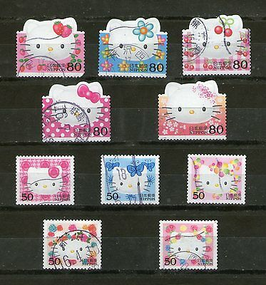 Japan : 'hello Kitty' Greetings-2004,10 Diff.incl.5 Odd-Shaped, Compl.,fu, # 39