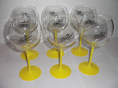 6 Verres Schweppes A Pied 2016 Neufs  60 Cl Arc International / Bar Bistrot
