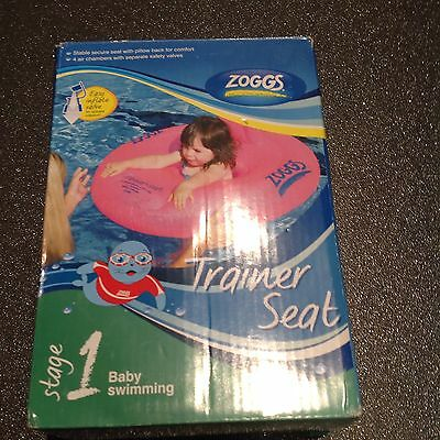 ZOGGS Pink Baby Swimming Trainer Seat Age 12-18 Mths