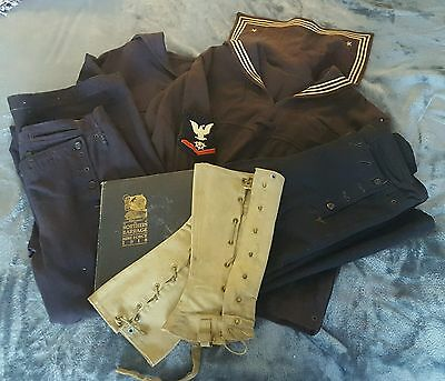WWI US Navy Mine Force Uniform Grouping Named