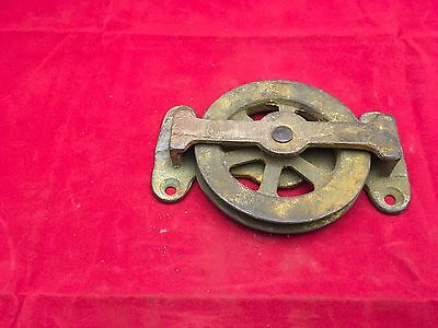 "Antique Brass Nautical Fishing 3-1/2"" Pulley"