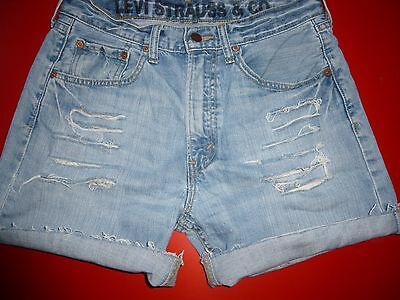 Vintage Womens Levis  Denim High Waisted Shorts Jeans Hotpants Size 14 W32
