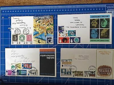 First Day covers Philympia, Notable Anniversaries, Discovery, Architecture