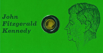 The Dead Kennedys Collection : 8kt. Mini-Gold Coin in sealed cover. JFK.