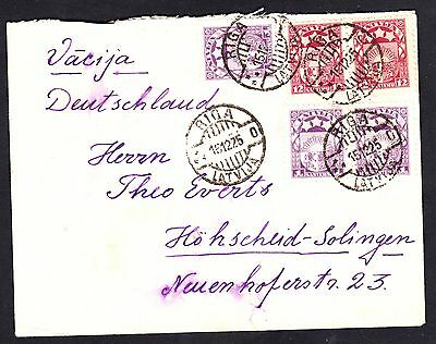 Latvia 1925 Multi-Franked Cover To Germany