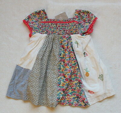 ***BNWT Next baby girl Ditsy Patchwork lined blouse tunic top 9-12 months***