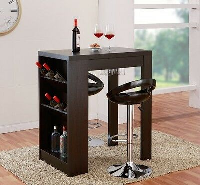 HOMES: Inside + Out ioHOMES Atlas Console Bar Work Station, Cappuccino Finish