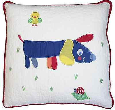 Farmyard Boys Girls Nursery Bedroom Square Puppy Dog Cushion Cover