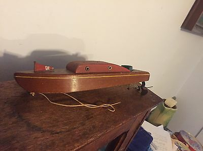Vintage Toy Wooden Boat Propeller Cool Piece