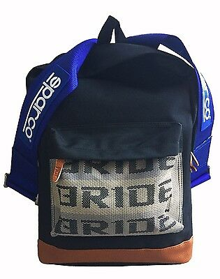 Bride Sparco backpack 2017 JDM with blue racing harness Takata