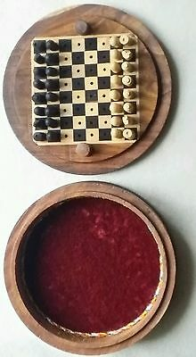 wooden travelling chess set