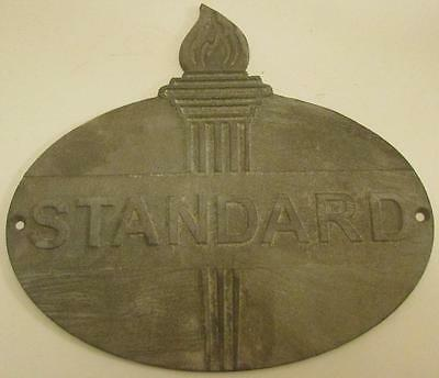 Very Nice Old Cast Iron Standard Gasoline Sign