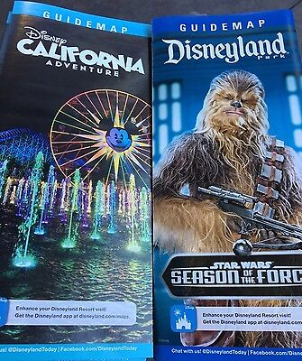 2017 New Disneyland & California Adventure Map Guides Chewbacca World Of Color