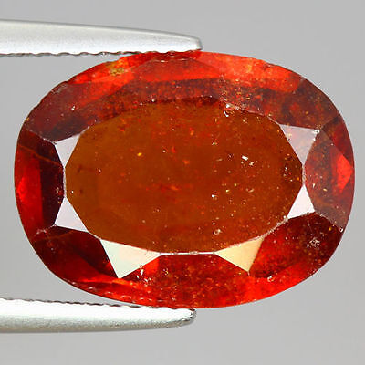 7.420 Cts  Amazing Rare Unique Beautiful Natural Superb Hessonite Garnet Nr!!!!