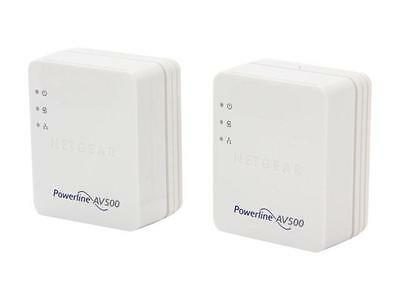 2x NETGEAR Powerline AV500 Nano XAV5201 Gigabit Adapters