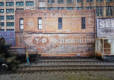 #338 O scale background building flat   T and P   *FREE SHIPPING*