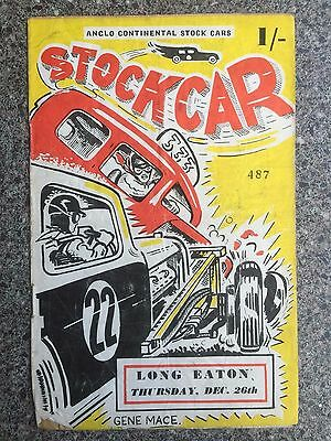 Stock car racing programme Long Eaton 1957