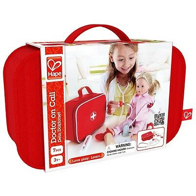 Wooden Toy 'Doctor On Call' 7pce Medical Kit and Carry Bag by HAPE