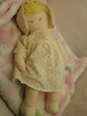 Eden vintage sleeping doll, rosebud dress PA #4 collectible 14""