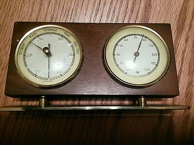 Vintage Weather Station Barometer + Thermometer ~ Made In  West Germany