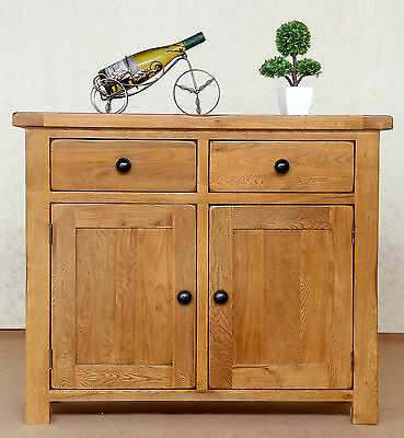 Yanzhe Rustic Solid Oak Small Sideboard - Dining Room Furniture