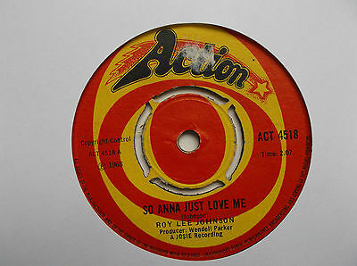 "Roy Lee Johnson / So Anna Just Love Me / Boogaloo No. 3 / 7"" Single"