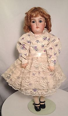 Antique Bisque Gebruder Kuhnlenz Doll Jtd body Nicely Dressed. Wow!