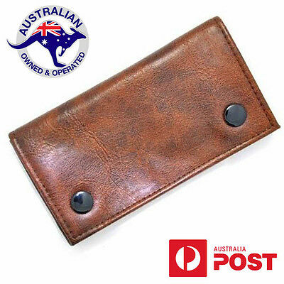 Tobacco Pouch Brown Leather Cigarette Case Bag Filter Rolling Paper Gift