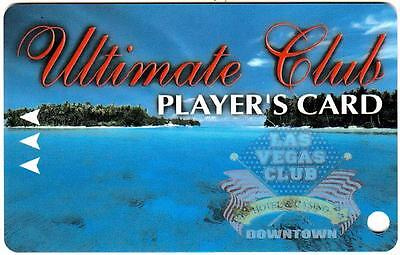 THE LAS VEGAS CLUB hotel casino *ULTIMATE CLUB *Vintage BLANK~ slot/players card