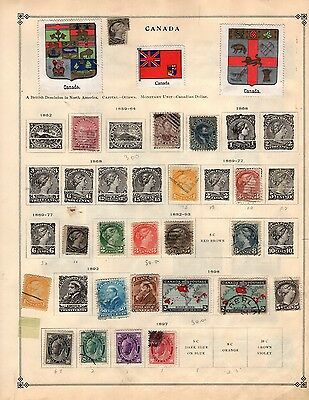 Canada & Canal Z Collection from Old Scott International 1840-1940 Album STRONG
