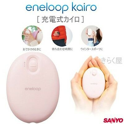 NEW Eneloop Kairo hand warmer KIR-SE1S from Sanyo Pink Japan With Tracking
