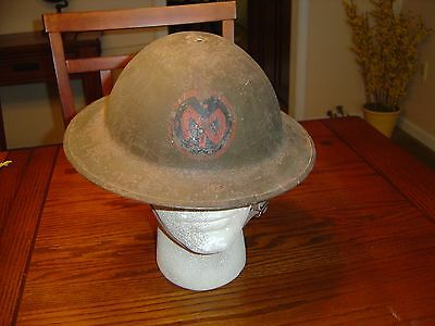 WWI US Helmet Doughboy 27th Div.